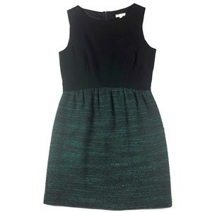 Shoshanna Black & Green Tweed Sleeveless Dress - 6